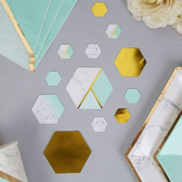 Mint Marble Table Scatters